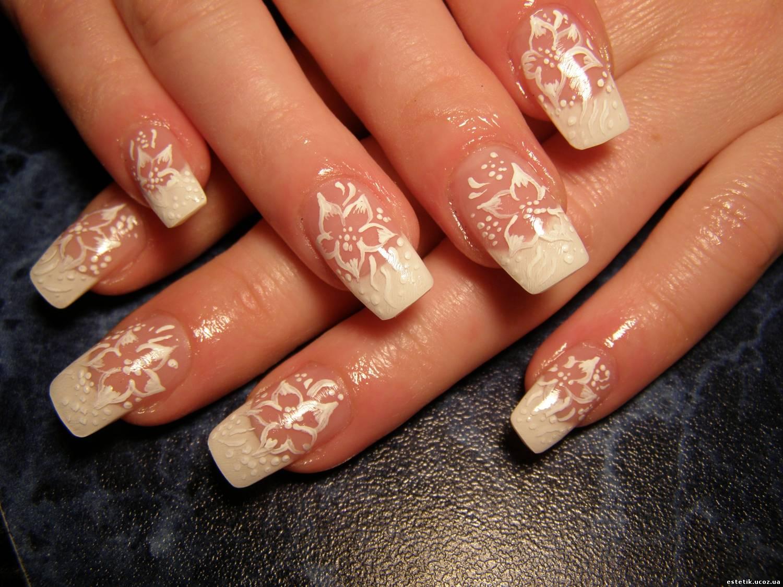 Дизайн ногтей фото на формах свадебные