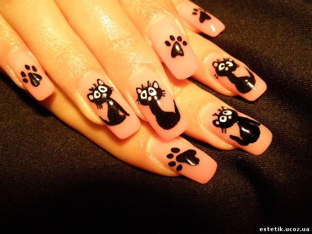 Дизайн ногтей с приколом
