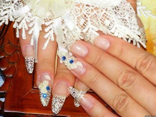 Свадебные ногти не нарощенные