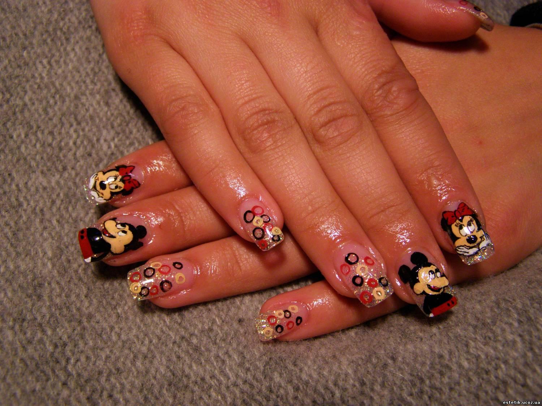 Рисуем микки мауса на ногтях поэтапно фото для начинающих